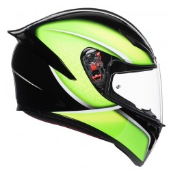AGV K-1 QUALIFY BLACK/LIME