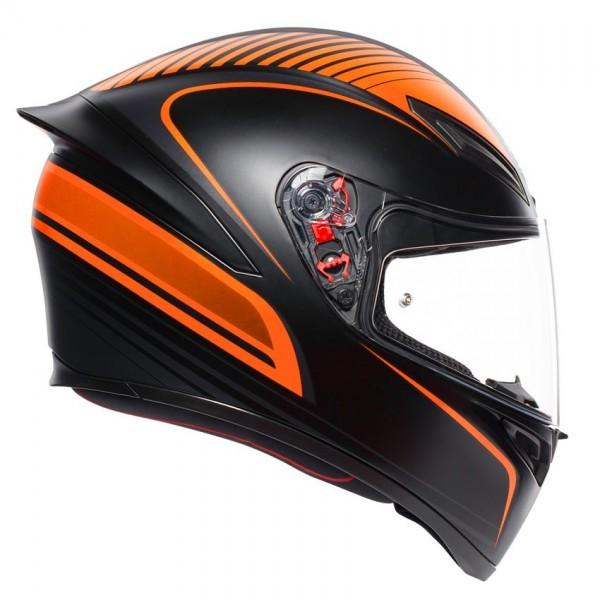 Helmet AGV K1 WARMUP MATT BLACK/ORANGE | BGCarShop.com