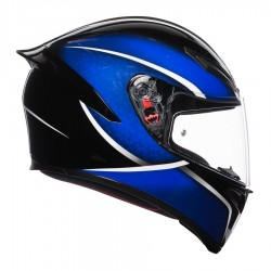 AGV K-1 QUALIFY BLACK/BLUE