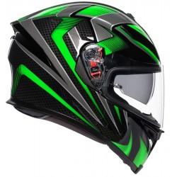 AGV K5-S HURRICANE 2.0 BLACK/GREEN