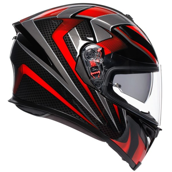 AGV K5-S HURRICANE 2.0 BLACK/RED| BGCarShop.com