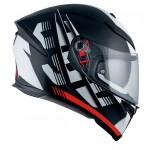 AGV K5-S Darkstorm Matt Black/Redt | BGCarShop.com